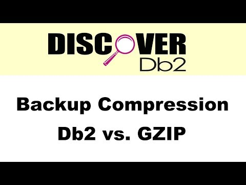 (Ep. 12) - Backup Compression: Db2 vs. GZIP