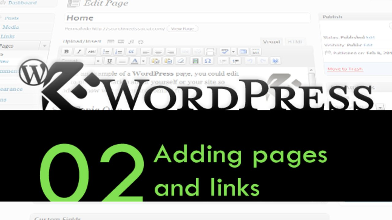 WordPress Walthrough: Pages & Links