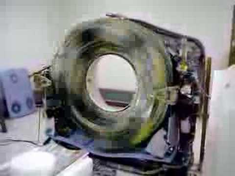 CT scanner gantry full speed rotation