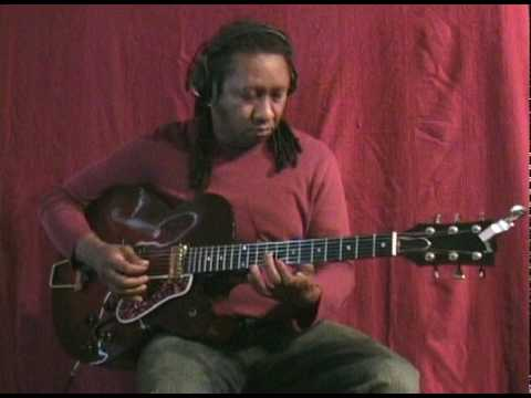 """""""White Christmas"""" by Irving Berlin Ron Jackson Solo Swing Cover Pick Fingerstyle Electric Guitar"""