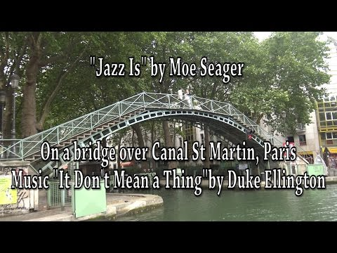 Phat Man Dee & Moe Seager on the Canal St. Martin, Paris, France