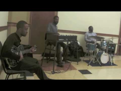 Dan Wilson-Guitar,Cliff Barnes-Organ,Phillip K Jones II-Drums playing standards
