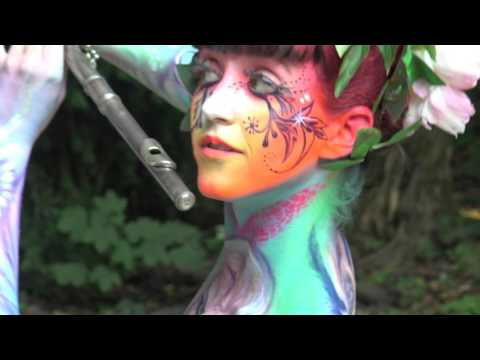 Phat Man Dee & Jake Goldwasser at World Bodypainting Festival 2015