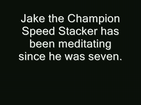 Jake the Champion Speed Stacker Meditates to Win- He is 8