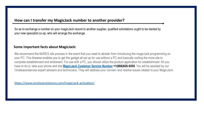 magicjack activation +1(888)626-6555 Magicjack Support Number