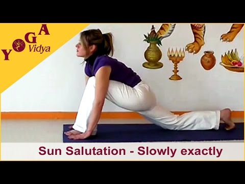 Sun Salutation - Slowly exactly Motion