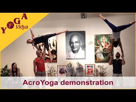 Acro Yoga demonstration by a group of AcroYoga Teacher