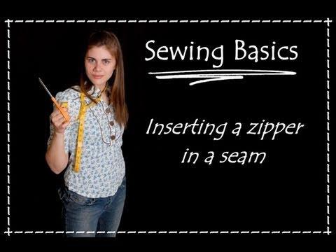 Sewing a Zipper in a Seam - Sewing Basics