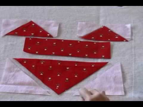 How to sew a heart quilt block