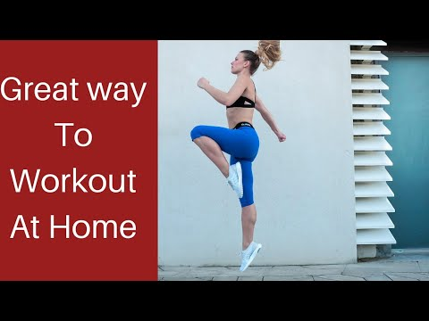 The easy way to workout at home / Fitness made fun with rebounding