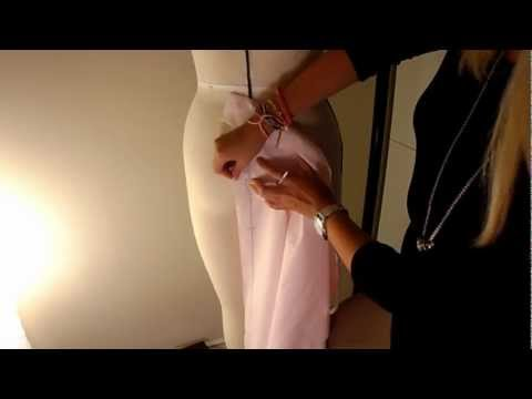 Pattern Cutting Tutorial: How To Drape A Basic Skirt Block