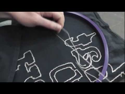 How To Hand Embroider Without Knots on the Back