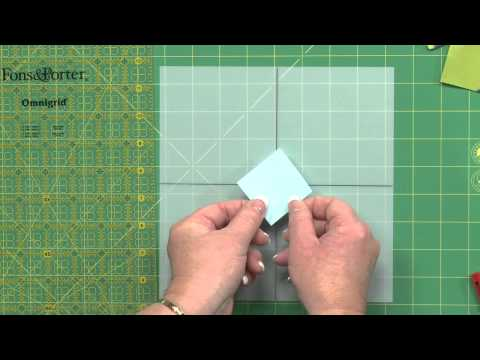 Quilting Lesson: Trimming Album Cross Blocks