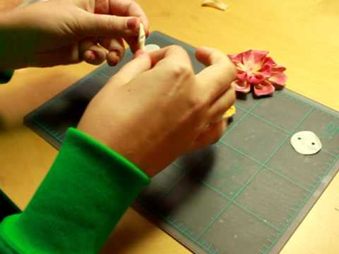 How to Make Twill Flowers -  Free Embellishment Tutorial