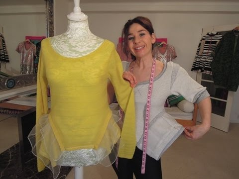 How to Sew A Top With Side Bustles - Inspired by Chanel