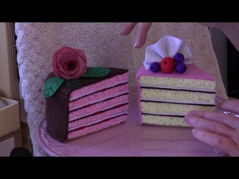How to make a felt sponge cake with Lisa Pay - FREE pattern