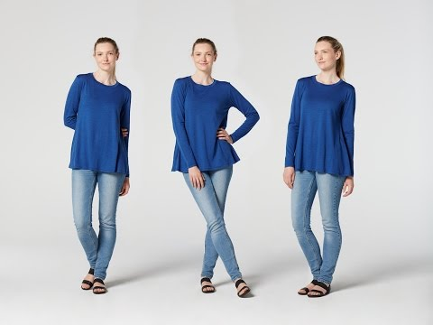 How to Make a Flared Long-Sleeve Top from Teach Me Fashion