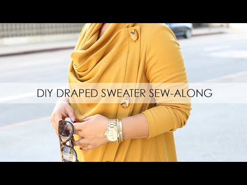 Draped Sweater Coat Sew-Along