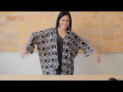 How to Sew a Fashion Kimono Shawl