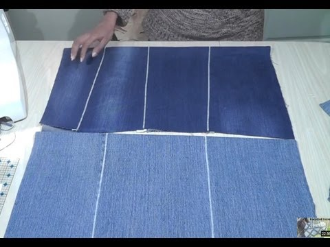 How to Create Flat Pieces from Recycled Denim / Recycle Reuse