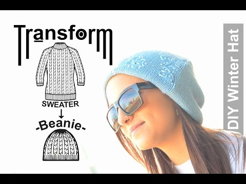 Easy DIY Transformation: Sweater into Winter Beanie