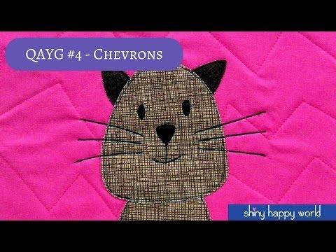 Quilt As You Go - Quilting Chevrons + {Fletcher – Free Chevron Quilt Pattern}