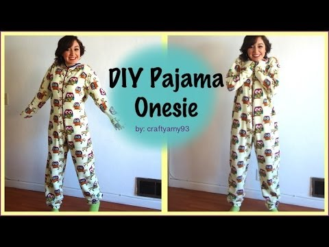 How to Pattern and Sew a Pajama Onesie! #sewing
