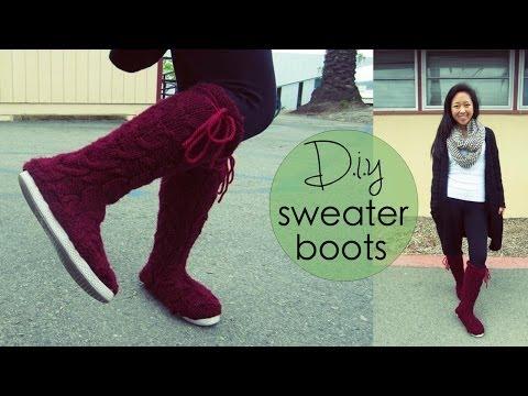 DIY Sweater Boots - Nice Gift Idea for Teen Girls