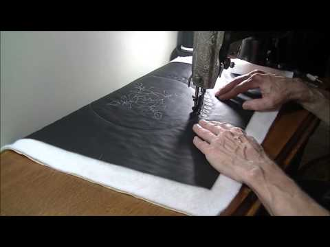 Free Motion Quilting on Leather