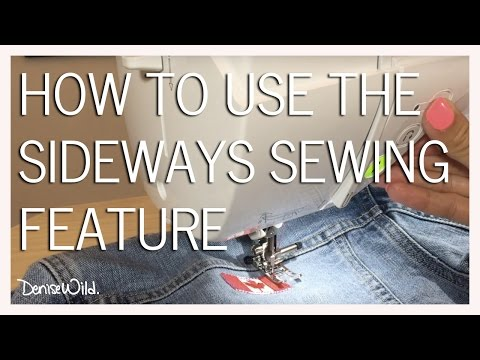 How To Use Sideways Sewing On Your Brother Machine