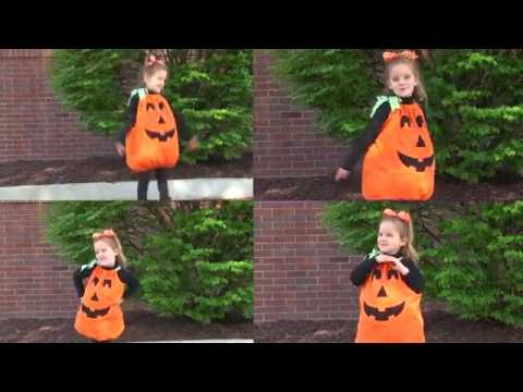 Easy Halloween Pumpkin Costume Sewing Project