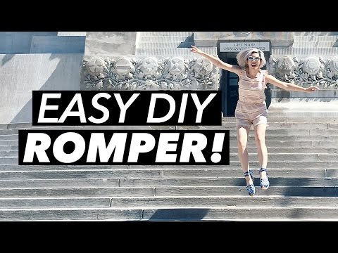 Easy to Sew Versatile Summer Romper - Free Sewing Tutorial from WithWendy