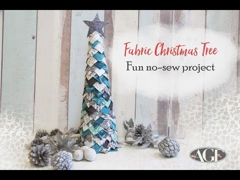 Fabric Christmas Tree Craft Tutorial - A Fun No-Sew Project
