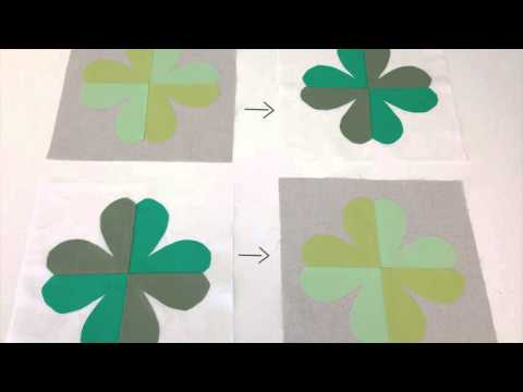Sew a Charmed Shamrock Applique Quilted Table Topper