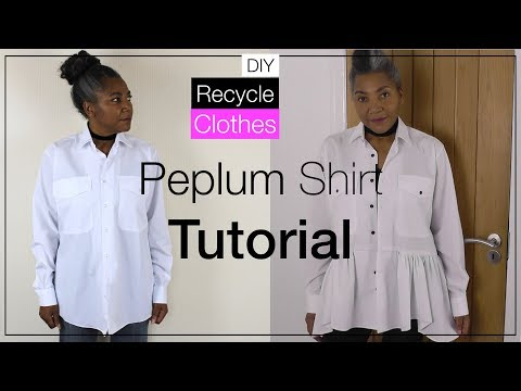 Peplum Shirt Top | A Refashion Project from Fashion Sewing TV