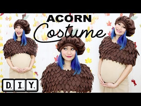 Make this Adorable Acorn Costume from HeyKayElle - Free Templates