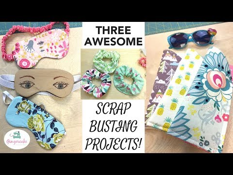 Three Fun and Easy Projects Using Fabric Scraps with Virginia Lindsay