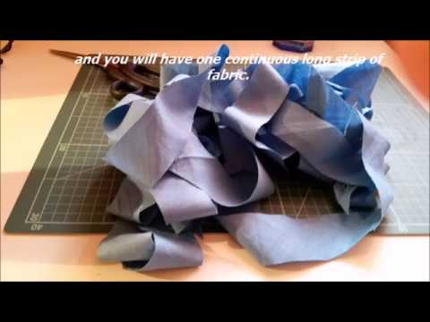 TUTORIAL - HOW TO MAKE CONTINUOUS BIAS TAPE (2 OPTIONS)
