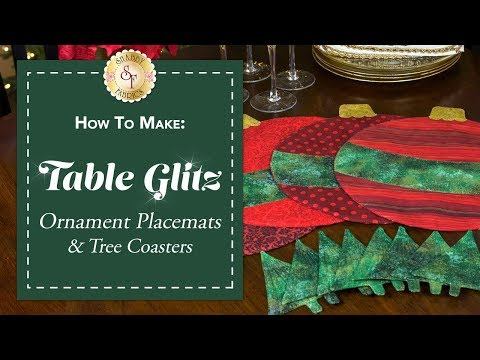 Sew Christmas Ornament Place Mats & Christmas Tree Coaster with Jennifer Bosworth of Shabby Fabrics