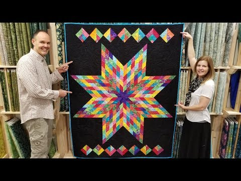 FREE PATTERN + One Jelly Roll = Lone Star Quilt!
