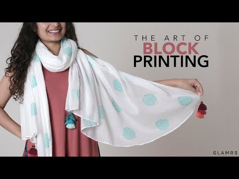 Block Printing Fabric Printing Technique with Glamrs