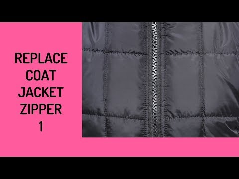 How To Replace a Coat or Jacket Zipper