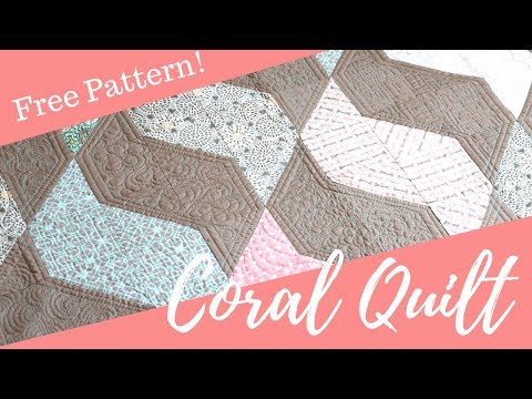Drift Coral Quilt -  A Free Pattern Designed by Angela Walters