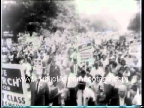 March on Washington Martin Luther King Jr Public Domain Footage Newsreel PublicDomainFootage.com