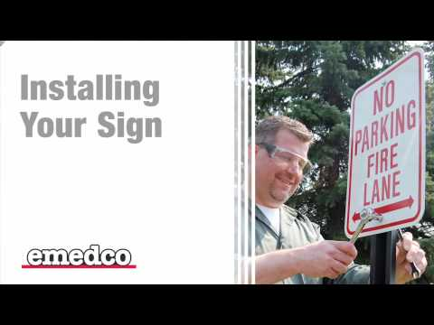 How to Install a Sign To a U-Channel Post