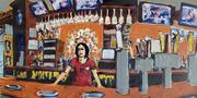 Shannon, bartending, Finneys, Doylestown PA USA