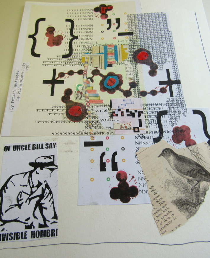 Mail art by Ferran Destemple (Barcelona, Spain) & De Villo Sloan (NY, USA)