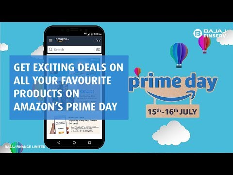 Shop for Your Favourite Products on Amazon's Prime Day with Bajaj Finserv