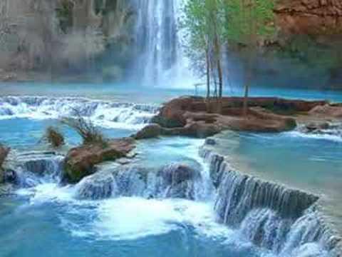 Havasupai Indian Waterfall Relaxation
