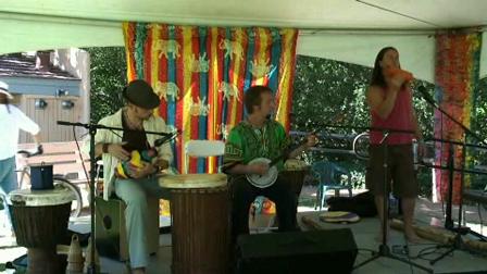 Three Trees ~ John Dumas ~ Porangui Perform Live at the Raw Spirit Festival